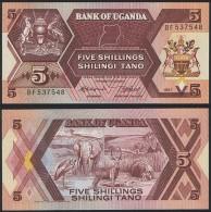 Uganda P 27 - 5 Shillings 1987 - UNC - Uganda
