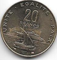 Djibouti 20 Francs 1999 Km 24 Unc  !!!!!!!!!onley In Sets !!catalog Val 15,00$ - Gibuti