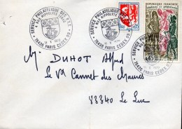 2- FRANCE Cachet Service Philatélique PARIS 09 - Marcofilia (sobres)