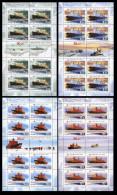 2009 4 M/S Russia Russland Rusland Russie Rusia Fleet Nuclear Icebreaker Ships Ship Mi 1552-1555  MNH ** - 1992-.... Fédération