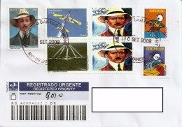 LSJP BRAZIL COVER SEAL  SANTOS DUMONT AIRPORT  WITH STAMPS PERSONALIZED AVIATION 2009 - Brazil