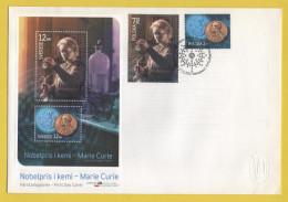 Schweden / Polen - Gemeinschaftsausgabe / FDC Vom 17.11.2011 - Nobelpreisträgerin Marie Curie - FDC