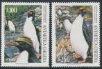 CHILE 1995 ANTARTICA CHILENA Macaroni Penguins Set Of 2v** - Antarctic Wildlife