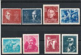 YUG09)Yugoslavia 1951 X Ann. Insurrezione Slovenia- Serbia- Montenegro- Croazia 4 Serie Cpl 8 Val MNH - 1945-1992 Repubblica Socialista Federale Di Jugoslavia