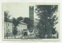 MOMBERCELLI CASTELLO DEI CONTI MAGGIOLINI 1919 VIAGGIATA FP - Asti
