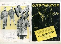 - FASCICULE A LA GRANDE MAISON . AUTOMNE-HIVER 1954 . MODE HOMME FEMME ENFANTS . - Moda & Accesorios