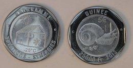 Guinée (Conakry) 25000 Francs 2013 Sun 5 €uro Bimetal Animal - Guinea