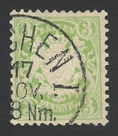 Bavaria, 3 Pf. 1881, Sc # 48, Mi # 47, Used. - Bavière