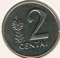 Lituanie Lithuania 2 Centai 1991 UNC KM 86 - Lituania