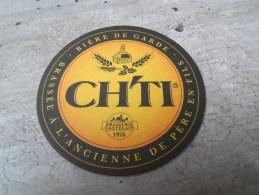 SOUS BOCK CH'TI BIERE DE GARDE.BRASSE A L'ANCIENNE DE PERE EN FILS .BRASSERIE CASTELAIN 1926 - Beer Mats