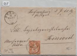 Sitzende Helvetia/Helvétie Assise 32 20c - Von Stäfa Nach Hinwil - 1862-1881 Sitzende Helvetia (gezähnt)