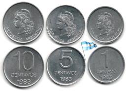 Argentine - 1+5+10 Centavos 1983 (UNC) - Argentine