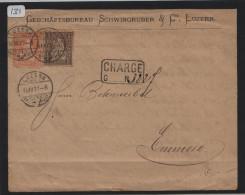 Sitzende Helvetia/Helvétie Assise 32 20c/30 - Von Luzern Nach Emmen (Schwingruber, Luzern) Charge - 1862-1881 Sitzende Helvetia (gezähnt)