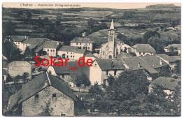 AK Chatas 1915 Feldpost, Pays Des Abbayes,  Raon-l'Étape, Saint-Dié-des-Vosges, France Frankreich - Saint Die