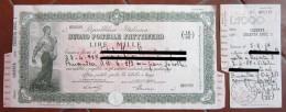 BUONO POSTALE FRUTTIFERO LIRE 1000 ANNO 1957 - Azioni & Titoli