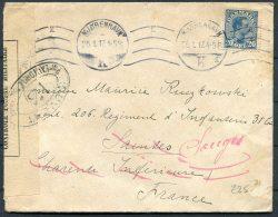 1917 Denmark Copenhagen Redirected Censor Cover - Regiment Infantry Militaire Armee France - Covers & Documents