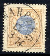 SWEDEN 1872 1 Riksdaler Perforated 14, Fine Used.  Michel 26A - Sweden