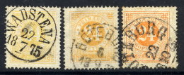 SWEDEN 1872 24 öre Perforated 14 In Three Shades, Fine Used.  Michel 23A - Sweden