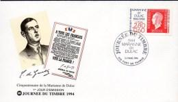 2- FRANCE  Enveloppe FDC Premier Jour N°YT 2863 Journée Du Timbre 1994 - 50ans Marianne De Dulac - FDC