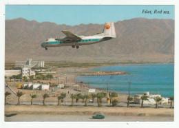 """Eilat - Eilath - """"ARKIA"""" Plane Landing - Atterrissage D'un Avion - Aviation - 10 X 14,5 Cm - Israel"""