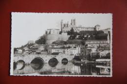 BEZIERS - Vue Générale Et Le Pont Vieux ( Timbre Surcharge ) - Dieppe