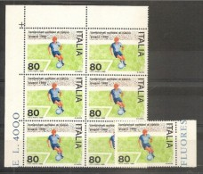 1980 Italia Italy Repubblica EUROPEI CALCIO  UEFA  SOCCER 7 Serie MNH** - Championnat D'Europe (UEFA)