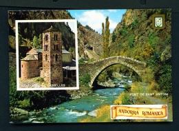 ANDORRA  -  Dual View  Unused Postcard - Andorra