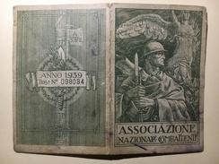 0584 - Italie Associazione Nazionale Combattenti  Federazione Di Sondrio Sezione Albosaggio Anno 1939 - 1939-45