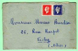 Letre Avec DULAC N° 693 + 686 De LAPALISSE Du 06/02/46 - France