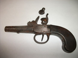 Pistolet De Coffre à Silex Années 1800/1820 - Armes Neutralisées