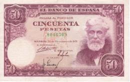 BILLETE DE ESPAÑA DE 50 PTAS DEL 31/12/1951 SIN SERIE CALIDAD MBC (VF)  (BANKNOTE) - [ 3] 1936-1975 : Régence De Franco