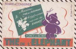 252 BUVARD THE DE L'ELEPHANT 21X 13.5 CM Taches Jaunes - Coffee & Tea