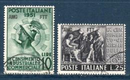 1951 CENSIMENTO  Trieste A  Serie Completa Usata - 7. Triest