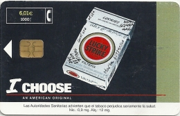 Spain - I Choose Lucky Strike - CP-228 - 06.2001, 37.500ex, Used - Conmemorativas Y Publicitarias