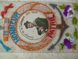 CPA Militaria Fantaisie Décorée Dentelle Marine Souvenir De La Campagne 1914/1918 Honneur Patrie En L'état - Guerre 1914-18