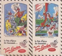 259 BUVARD VAN LYNDEN PAIN EPICES JEAN BART JEANNE HACHETTE Lot De 2 Pieces    20X 10.5 CM - Gingerbread