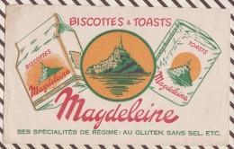 266 BUVARD MAGDELEINE MONT ST MICHEL  21 X 13 CM - Biscottes