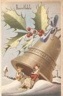 CT--N--1737-- BUON NATALE - CAMPANA - ZAMPOGNAI - VIAGGIATA 1950 - Natale