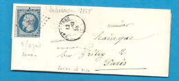 Seine Et Oise - PALAISEAU Pour PARIS . PC + CàD Type 15 - Postmark Collection (Covers)