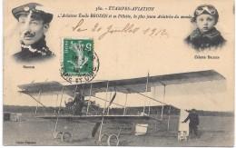 ETAMPES AVIATION - L'aviateur Emile BRODIN Et Sa Fillette, La Plus Jeune Aviatrice Du Monde - Etampes