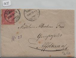 Sitzende Helvetia/Helvétie Assise 38 10c - Vom Zürich Nach Affoltern A./A. - 1862-1881 Sitzende Helvetia (gezähnt)