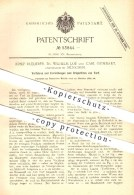 Original Patent - J. Ruederer , Dr. W. Loé , C, Gumbart / München , Brikettieren Von Torf , Brikett , Brenstoffe , Kohle - Historical Documents