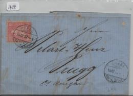 Sitzende Helvetia/Helvétie Assise 38 10c - Von Basel Nach Brugg - 1862-1881 Sitzende Helvetia (gezähnt)