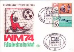 Hamburg, FDC WM74 Fussballweltmeisterschaft (14.6.74) - Coppa Del Mondo