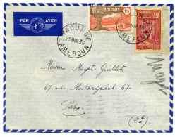 """Lettre """" PAR AVION"""" De YAOUNDE Cameroun Pour La France / Tarif à 2.65F / 1938 / Au Dos Cad MARSEILLE GARE AVION - Cameroun (1915-1959)"""