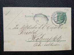 GANZSACHE Korrespondenzkarte Jägerndorf - Hotzenplotz 1907  /// D*20407 - 1850-1918 Imperium