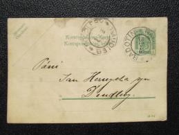 GANZSACHE Korrespondenzkarte Radotin - Doudleby 1907 /// D*20411 - Briefe U. Dokumente