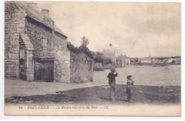 PONT-CROIX-- LA RIVIERE- VUE PRISE DU PORT- ANIMEE - Francia
