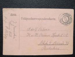 Feldpost Korrespondenzkarte Velke Prilepy - Pardubice /// D*20429 - 1850-1918 Imperium