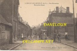 62 // BRUAY LES MINES   Rue Mormottan   EDIT FAUCHOIS  / ANIMEE / MARCHAND DE GLACE - Altri Comuni